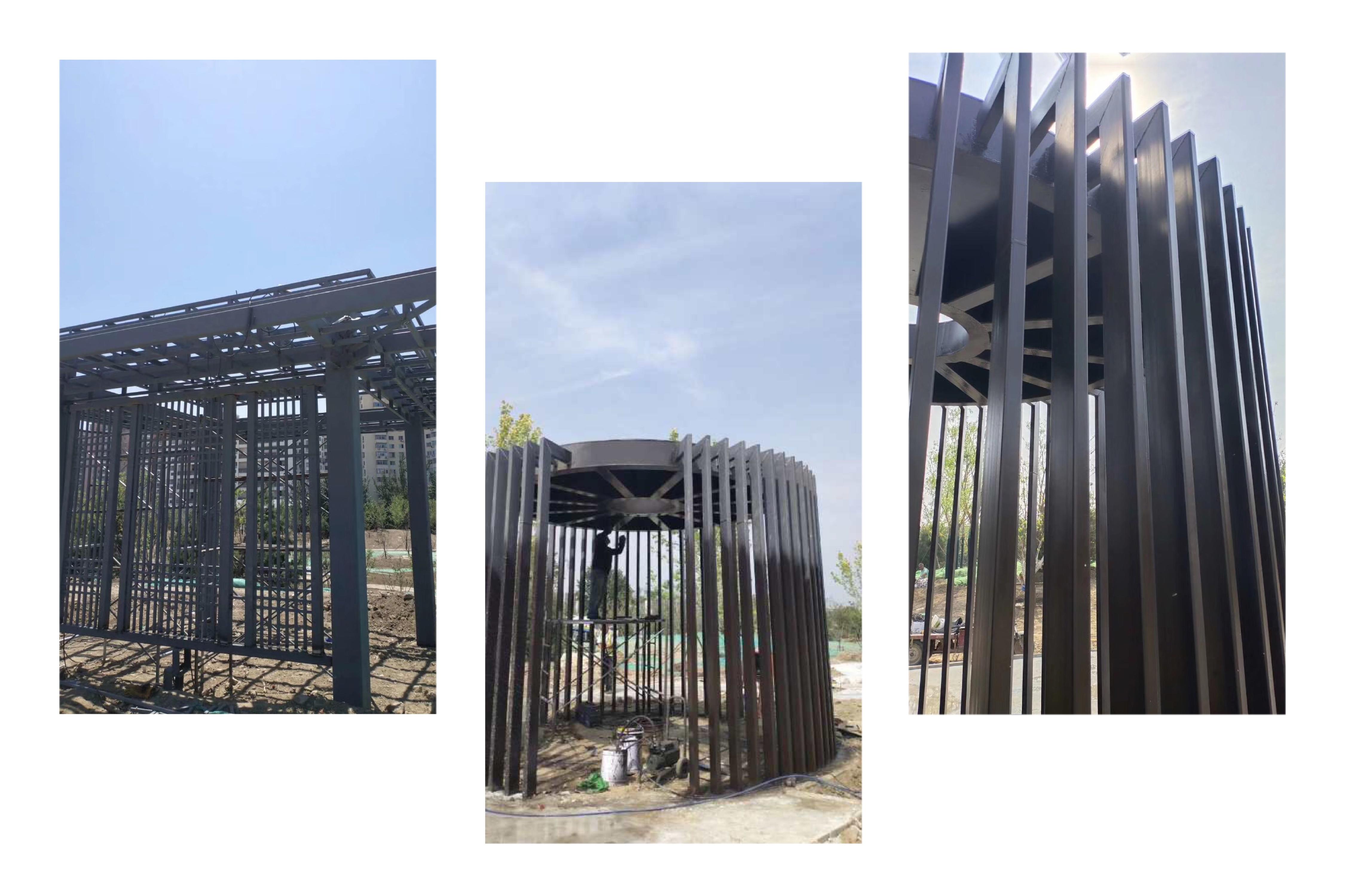 园林设计中的钢结构景观