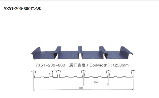 YX51-200-800 楼承板