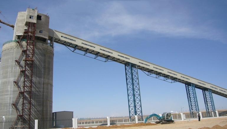 2009年宁夏银川宁煤烯烃皮带廊工|钢结构平台|京泊兴